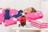 Sick teenager girl — Stock Photo