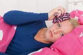 Teen girl with headache — Stock Photo