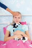 Sick teenager girl — Foto de Stock