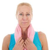 Portrat mature woman at fitness — Foto de Stock