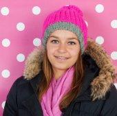 Chica adolescente retrato en invierno — Foto de Stock