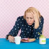 Depressive woman — Stock Photo