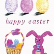 Hand drawn easter decorations — Stock Vector #61104197