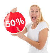 Discount in shop — Stock Photo