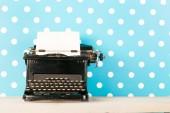Antique black typewriter — Stock Photo