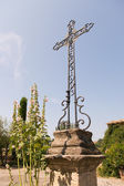 Old metal cross in France — Stock Photo