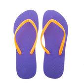 Purple flipflops — Stock Photo