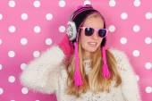 Portrait teen girl in winter — Stock Photo