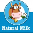 Cartoon Label With Cow And Text — Stock Photo #54017735