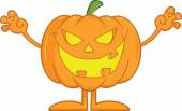 Scaring Halloween Pumpkin Cartoon Character — Stock Photo