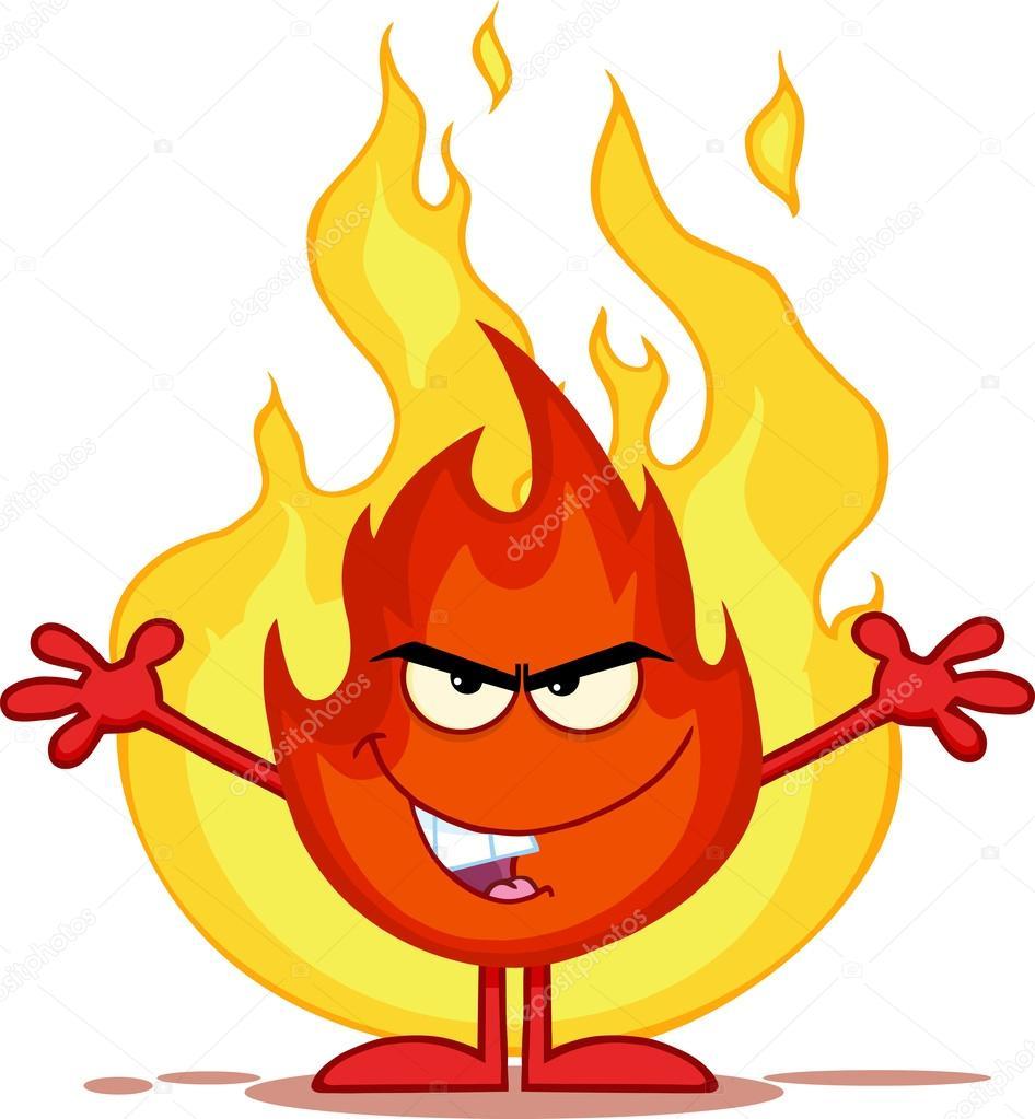 b u00f6se feuer cartoon figur mit offenen armen vor flammen devil clipart black and white devil clipart awesome