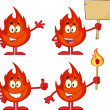 Flame Cartoon Character 3. Collection Set — Stock Photo #54654661