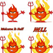 Flame Cartoon Character 6. Collection Set — Stock Photo #54654693