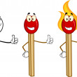 Match Stick Cartoon Characters 6. Collection Set — Stock Photo #54654723