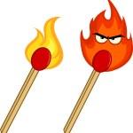 Burning Match Sticks. Collection Set — Stock Photo #54654725