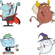 Halloween Cartoon Characters Series 1. Collection Set — Stock Photo #54654851