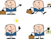 Businessman Dude Cartoon Character 12  Collection Set — Stock Photo