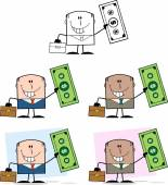Businessman Dude Cartoon Character 8  Collection Set — Stock Photo