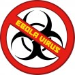 Red Stop Ebola Sign With Bio Hazard Symbol And Text — Stock Photo #56672049
