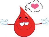 Red Blood Drop Cartoon Mascot Character With Open Arms For Hugging — Stock Photo