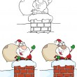 Santa Bear Waving A Greeting — Stock Vector #60664783