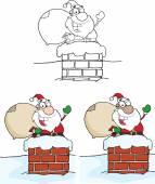 Santa Bear Waving A Greeting — Vettoriale Stock