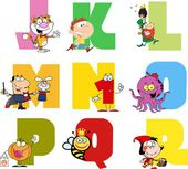 Joyful Cartoon Alphabet Collection — Stock Vector