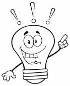 Light Bulb  With A Bright Idea — Stock Vector