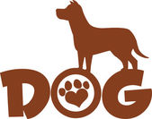 Dog Brown Silhouette — Vettoriale Stock