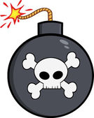 Bomb With Skull And Crossbones. — Stock Vector