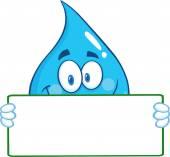 Postać kropli wody — Wektor stockowy