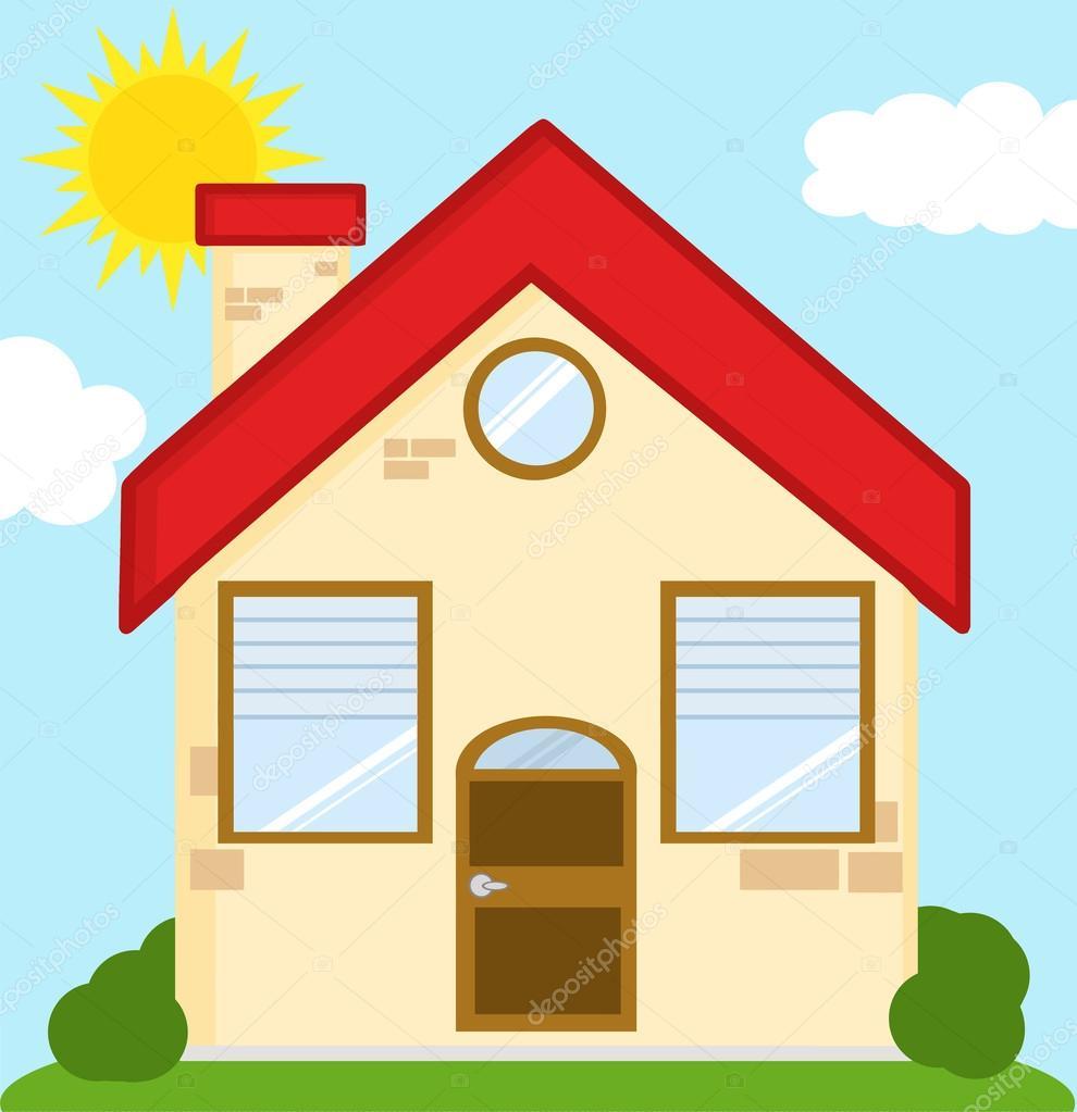 Dibujos animados de casa de ladrillo archivo im genes vectoriales hittoon 61064107 for Imagenes de tumbados de casas