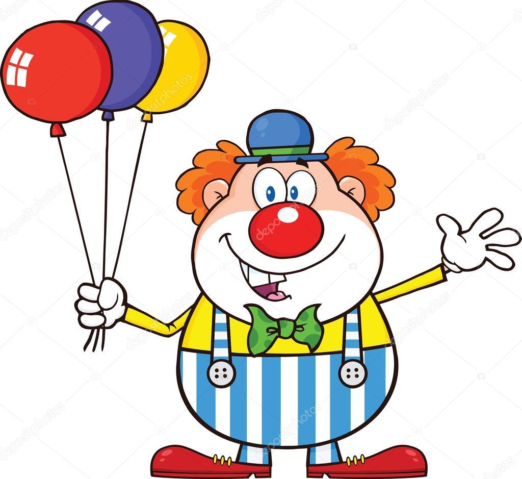 Personagem De Desenho De Palhaço Com Balões