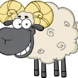 Ram Sheep Cartoon Character. — Stock Vector #61072195