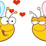 Cute Bee Looking Female Bee — Stock Vector #61078765