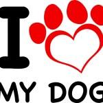 I Love My Dog — Stock Vector #61079103