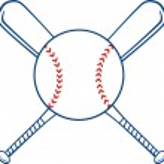 Two Crossed Baseball Bats And Ball. — Stock Vector #61079107