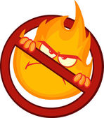 Stop Fire Sign — Vettoriale Stock