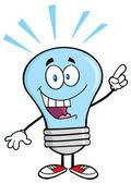 Blue Light Bulb with Idea. — Stock Vector