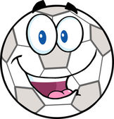 Glad Fotboll boll seriefigur. — Stockvektor