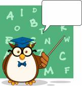Wise Owl Teacher — Stock Vector
