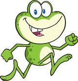 Frog  Character Running. — Stock Vector