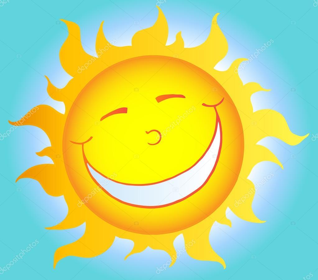 Personaje de dibujos animados de sol sonriente vector de - Image soleil rigolo ...
