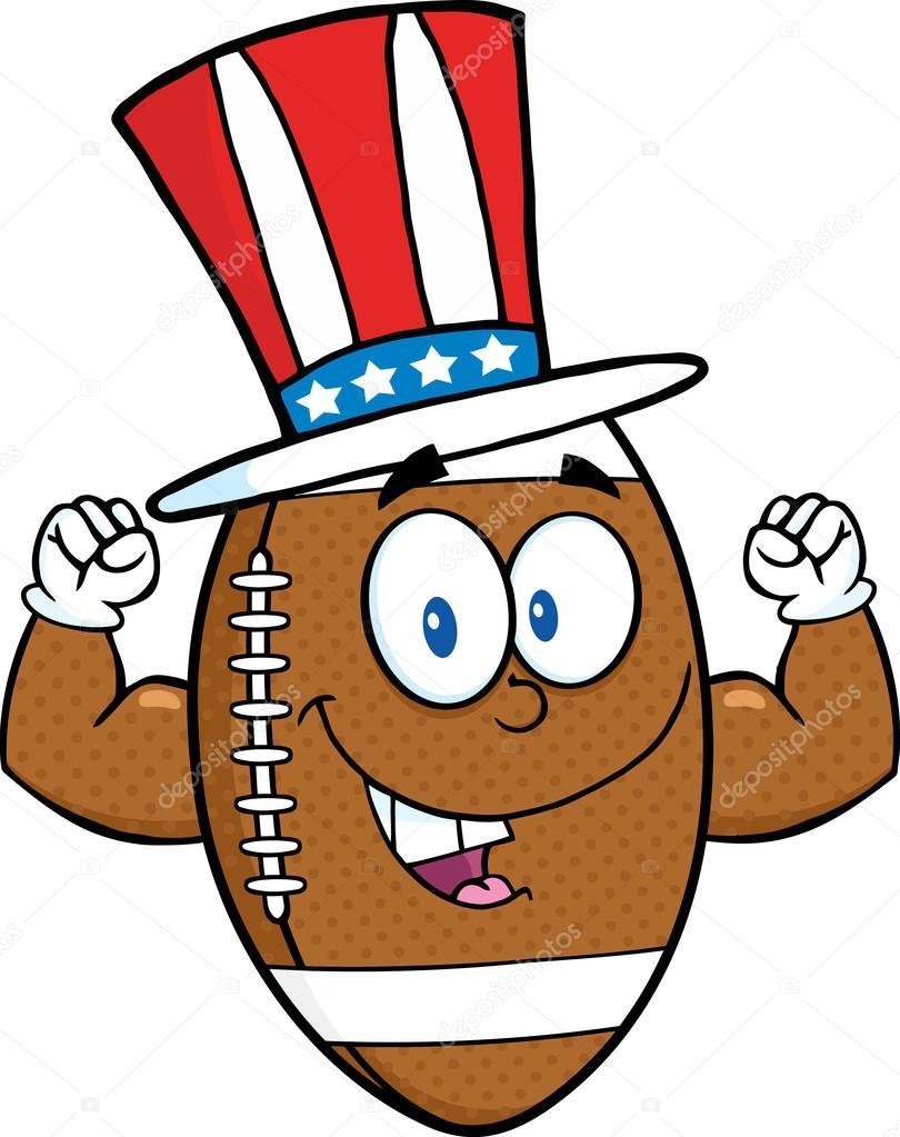 Ballon de football am ricain avec chapeau patriotique image vectorielle hittoon 61079711 - Dessin football americain ...