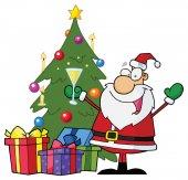 Merry Christmas greeting card — Vector de stock