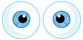 Blue Eye Balls. — Stock Vector