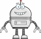 Smiling Robot Cartoon Character. — Stock Vector