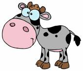 Cartoon Character Calf — Stock Vector