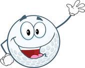Golf Ball Waving — Stock vektor