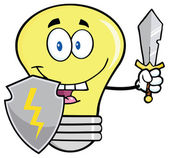 Light Bulb Guarder With Shield — Stock Vector